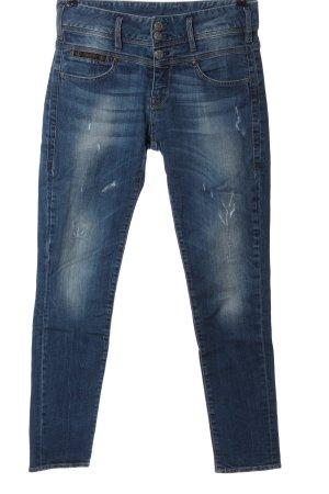 Herrlicher Jeans a gamba dritta blu stile casual