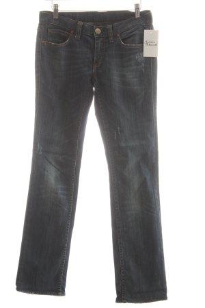 Herrlicher Jeansy z prostymi nogawkami ciemnoniebieski Aplikacja z logo