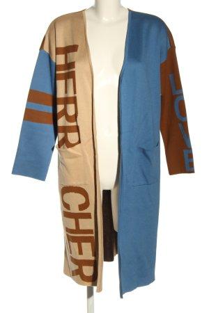 Herrlicher Cardigan tricotés imprimé avec thème style décontracté