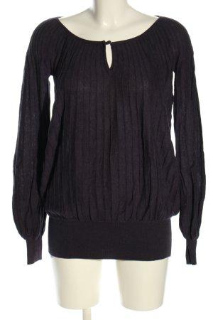 Herrlicher Strickshirt schwarz Casual-Look