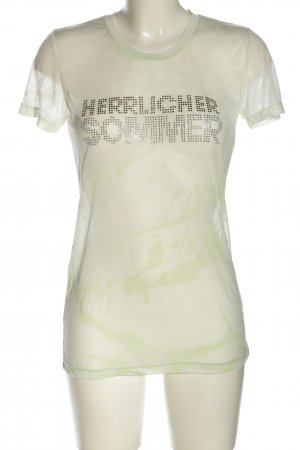 Herrlicher T-Shirt grün abstraktes Muster Casual-Look