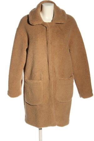 Herrlicher Manteau imitation fourrure brun style décontracté
