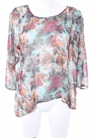 Herrlicher Transparentna bluzka Wzór w kwiaty Elegancki