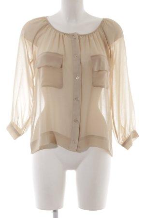Herrlicher Transparenz-Bluse creme Elegant
