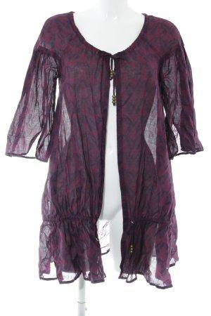 Herrlicher Bluzka tunika purpurowy-czerwona jeżyna Nadruk z motywem