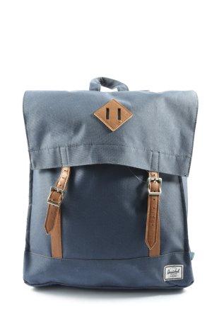 Herschel Mochila de colegio azul-marrón look casual