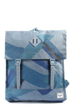 Herschel Schulrucksack blau-schwarz Allover-Druck Casual-Look