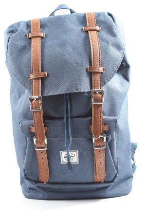Herschel Schulrucksack blau-braun Casual-Look