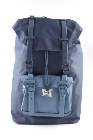 Herschel Mochila escolar azul look casual
