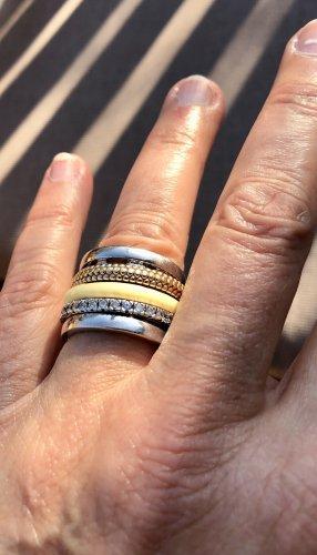 Hertl Schmuck, Ring, breit, Silber 925, mehrteilig