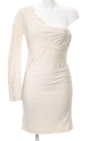 Hervé léger Abendkleid wollweiß Streifenmuster Elegant