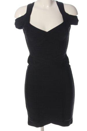 Hervé léger Pencil Dress black striped pattern casual look
