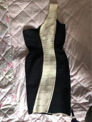 Hervé léger Cocktail Dress white-black