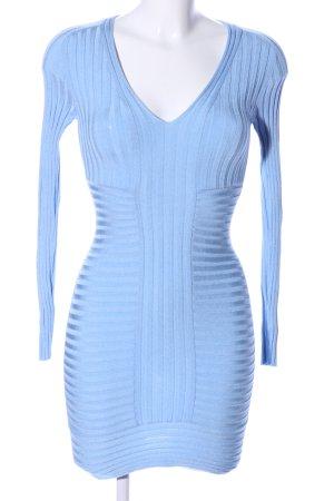 Hervé léger Langarmkleid blau Casual-Look
