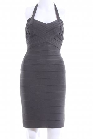 Hervé léger Halter Dress light grey casual look