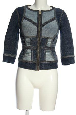 Hervé léger Between-Seasons Jacket blue abstract pattern casual look