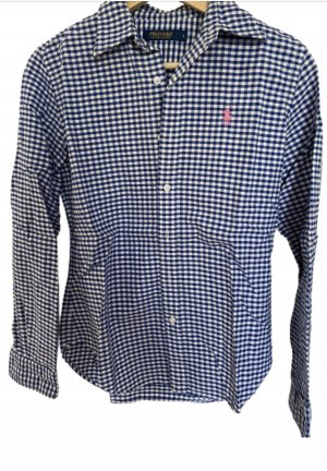 Polo Ralph Lauren Camisa de manga larga azul-blanco