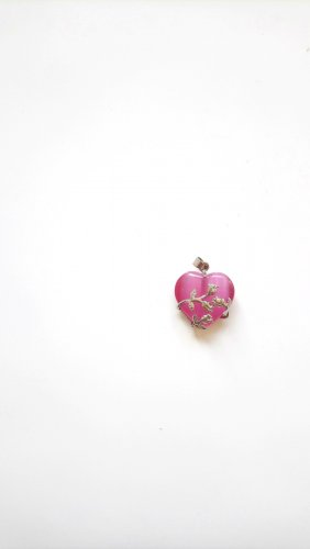 Pendant silver-colored-pink
