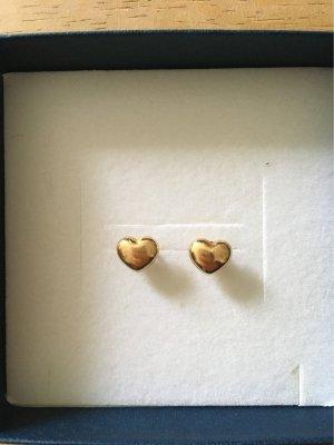 Herz Ohrstecker Gold 585