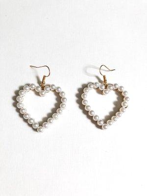 Herz Perlen Ohrringe