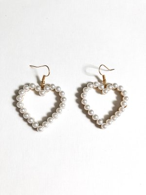 Pearl Earring gold-colored-white