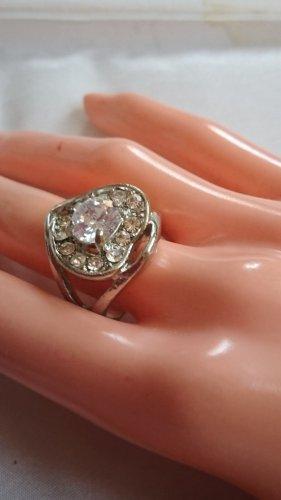 Herz Ring mit Zirkonia Steine Gr.19