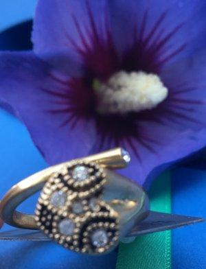 Herz Ring , Pilgrim , neu , ringschiene verstellbar