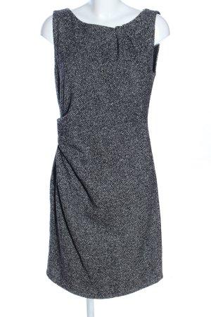 Herz & Stoehr Berlin Wollen jurk lichtgrijs gestippeld zakelijke stijl