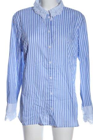 Herzensangelegenheit Hemd-Bluse blau-weiß Streifenmuster Business-Look