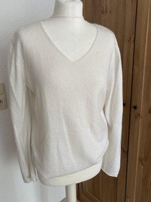 Herzensangelegenheit Kaszmirowy sweter biały