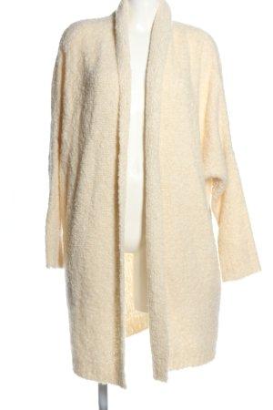 Herzensangelegenheit Płaszcz z dzianiny kremowy W stylu casual