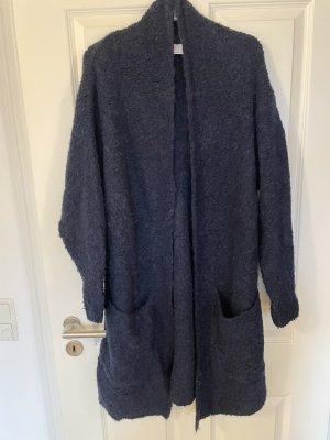 Herzensangelegenheit Cappotto a maglia blu scuro-argento Acrilico