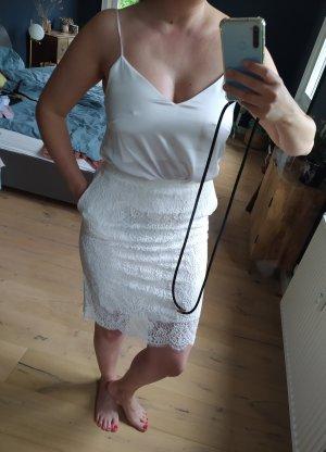Herzensangelegenheit Top Camisole Seide Weiß