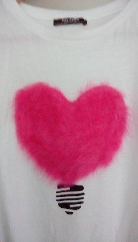 Zara Oversized Shirt white-pink