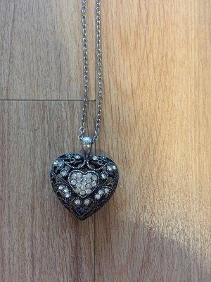 Medaillon zilver-donkergrijs