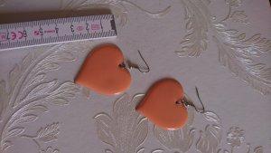 herzohrringe Metall apricot