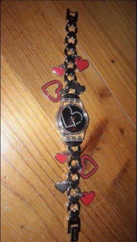 Swatch Analoog horloge zilver-rood
