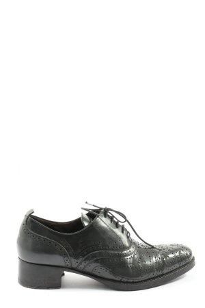 Heschung Wingtip Shoes black casual look