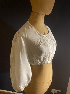 Hess Frackmann Folkloristische blouse wit Linnen