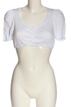 Hess Frackmann Blouse bavaroise blanc style classique