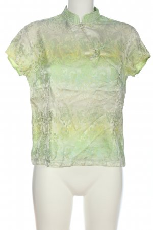 Hess Natur Kurzarm-Bluse Allover-Druck Casual-Look
