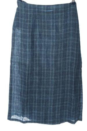 Hess Natur Wraparound Skirt blue allover print casual look