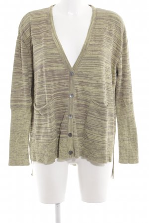 Hess Natur Strickjacke braun-goldfarben Allover-Druck Casual-Look