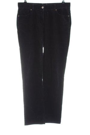 hessnatur Pantalon en velours côtelé noir style décontracté