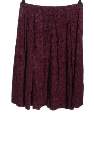 hessnatur Glockenrock schwarz-pink grafisches Muster Casual-Look