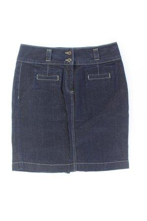 hessnatur Jeansrock Größe 38 blau aus Baumwolle