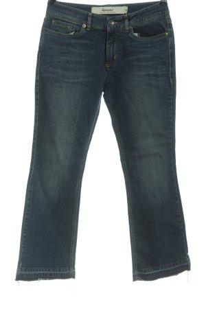 hessnatur Jeans a zampa d'elefante blu stile casual