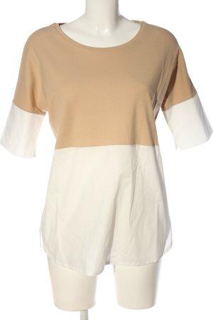 hessnatur Kurzarm-Bluse nude-weiß Casual-Look