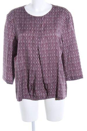 hessnatur Langarm-Bluse pink-weiß Allover-Druck Casual-Look