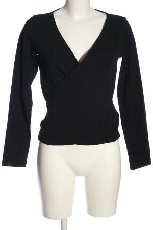 hessnatur V-Ausschnitt-Pullover schwarz Business-Look